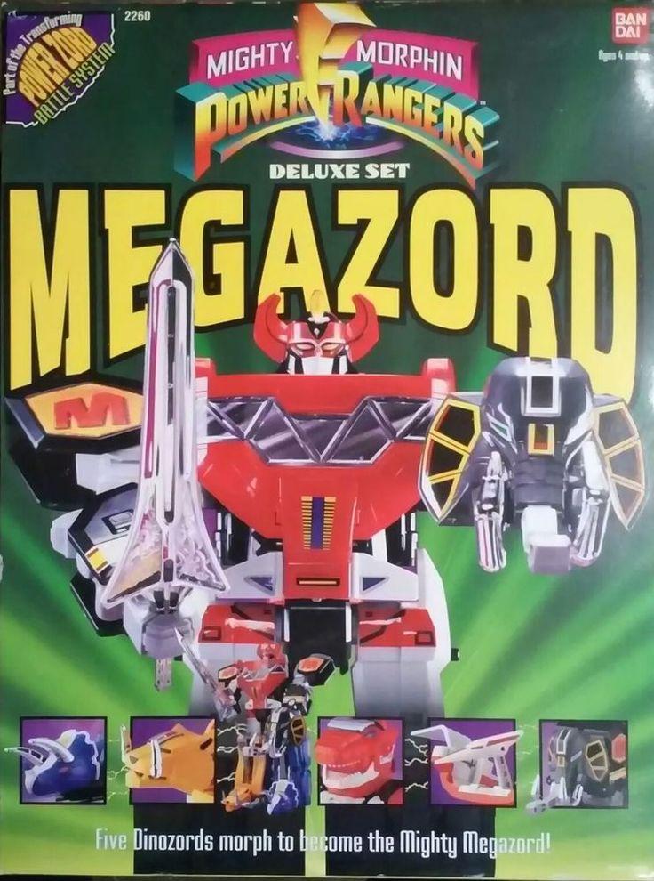 Bandai Mighty Morphin Power Rangers Deluxe Set Megazord Action Figure #Bandai