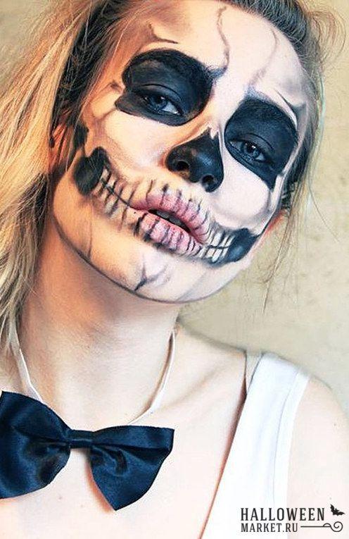 #makeup #skeleton #skull  #halloweenmarket #halloween  #грим #макияж #скелет #череп Макияж черепа на хэллоуин (фото) Ещё фото http://halloweenmarket.ru/%d0%bc%d0%b0%d0%ba%d0%b8%d1%8f%d0%b6-%d1%87%d0%b5%d1%80%d0%b5%d0%bf%d0%b0-%d0%bd%d0%b0-%d1%85%d1%8d%d0%bb%d0%bb%d0%be%d1%83%d0%b8%d0%bd-%d1%84%d0%be%d1%82%d0%be/