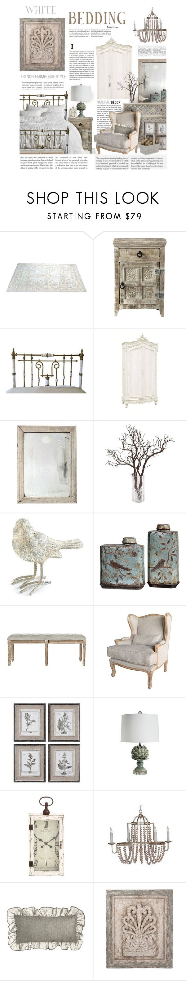 """""""White Bedding"""" by thewondersoffashion ❤ liked on Polyvore featuring interior, interiors, interior design, home, home decor, interior decorating, Home Decorators Collection, iCanvas, Uttermost and Pine Cone Hill"""