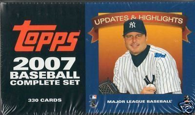 2007 Topps Baseball Traded, Updates and Highlights Series Factory Sealed 330 Card Set. Loaded with Rookie Cards Including Tim Lincecum, Joba Chamberlain, Hunter Pence, Mark Reynolds, Daisuke Matsuzaka, Ryan Braun, Phil Hughes and Others Plus Stars Albert Pujols, Alex Rodriguez, Derek Jeter, Ichiro Suzuki, Ken Griffey Jr., Barry Bonds and Many More!