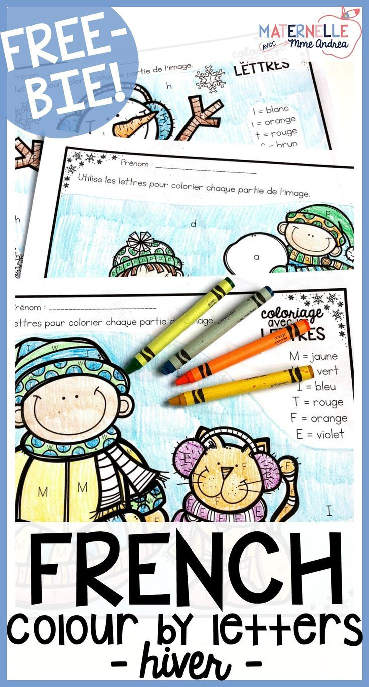 Gratuit Free French Winter Colour By Letter Worksheets Free In French French Activities French Colors [ 1369 x 736 Pixel ]