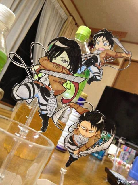 Attack on Titan ~~ Apparently, WE are the Titans. :: Levi, Mikasa, and Eren