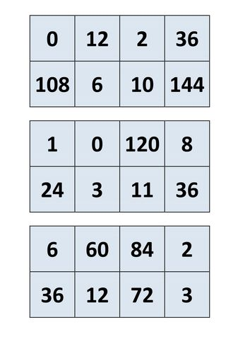 17 best images about 100s times tables resources games for 12 times table games