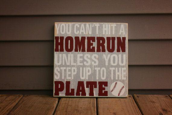 Nursery Art Little boy baseball inspired wood sign by CASignDesign, #Etsy #Baseball #woodsign
