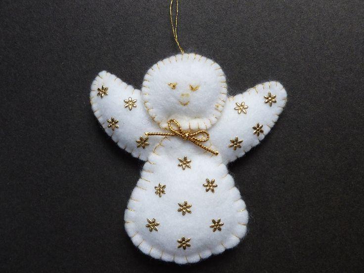 Felt Christmas Angel tree decoration. 2002.