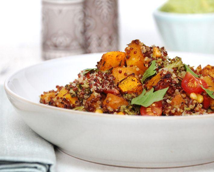 Roasted Squash and Pine Nut Quinoa