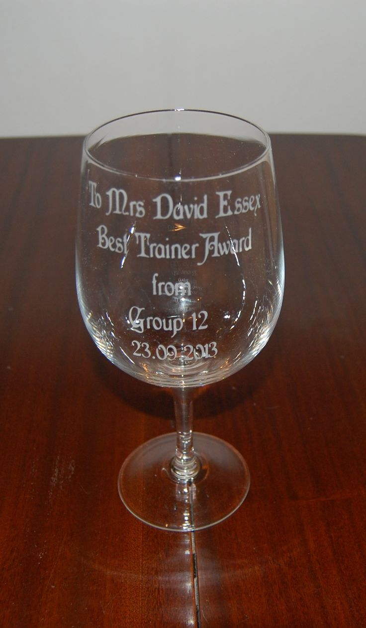 Lovely etched glassware for great presents