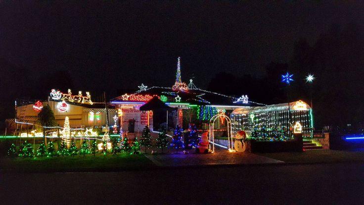 Christmas lights in Erskine Park, NSW, Australia.