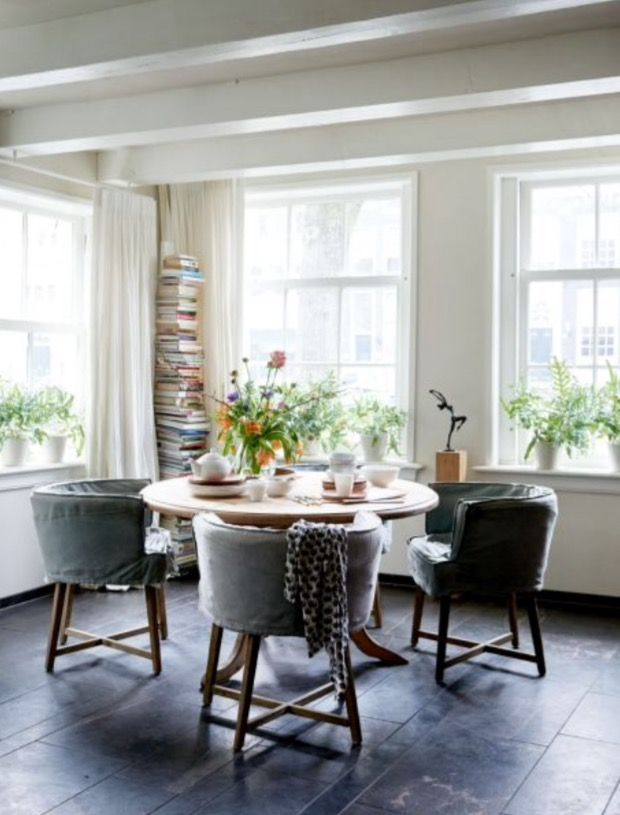 """This bright dining area is from our feature """"Canal Chic"""""""
