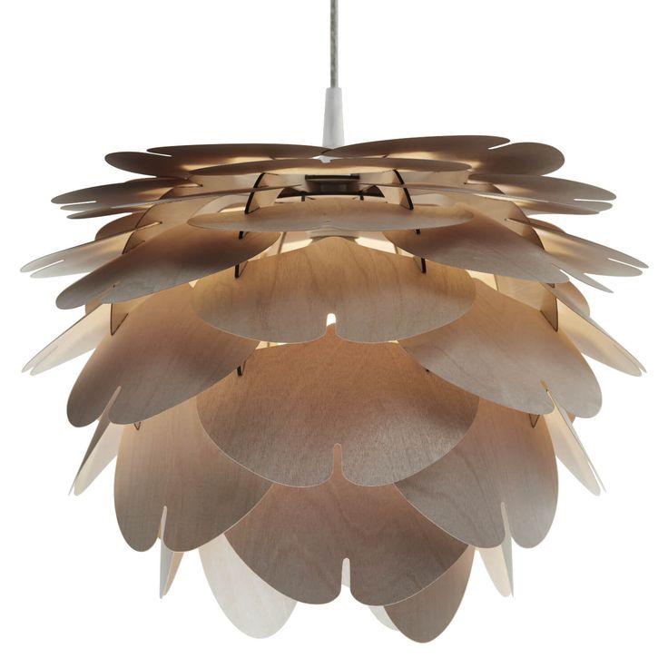 Lampa wisząc z drewna AIKO Cappuccino marki Woolight