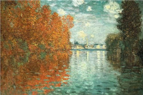 Autumn Effect at Argenteuil: 1873 by Claude Monet (Samuel Courtauld Trust, The Courtauld Gallery, London, UK) - Impressionism