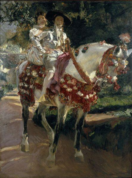 Joaquin Sorolla Pictures of Elena and Maria Valencia ancient costumes Madrid, 1908