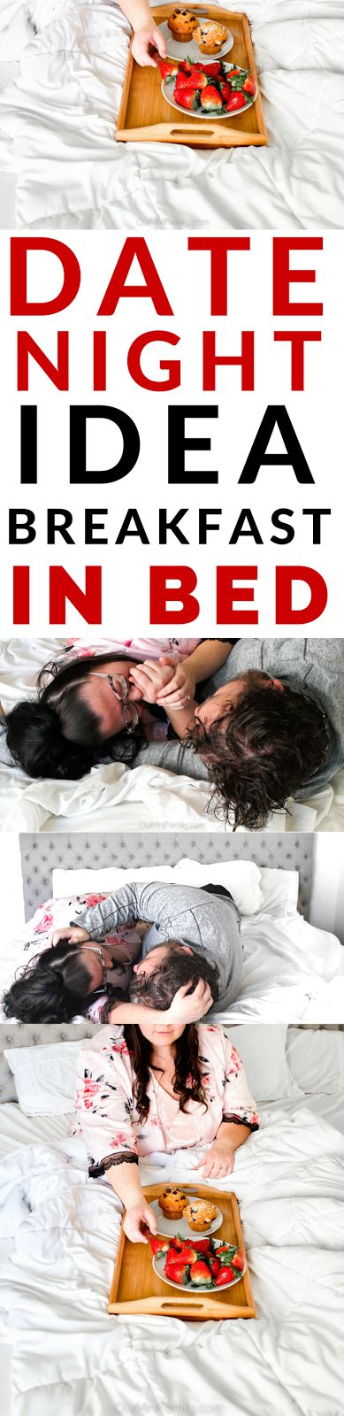 Too cold to go out? Have a date night at home...and in bed together! See our breakfast in bed date night idea! (affiliate)
