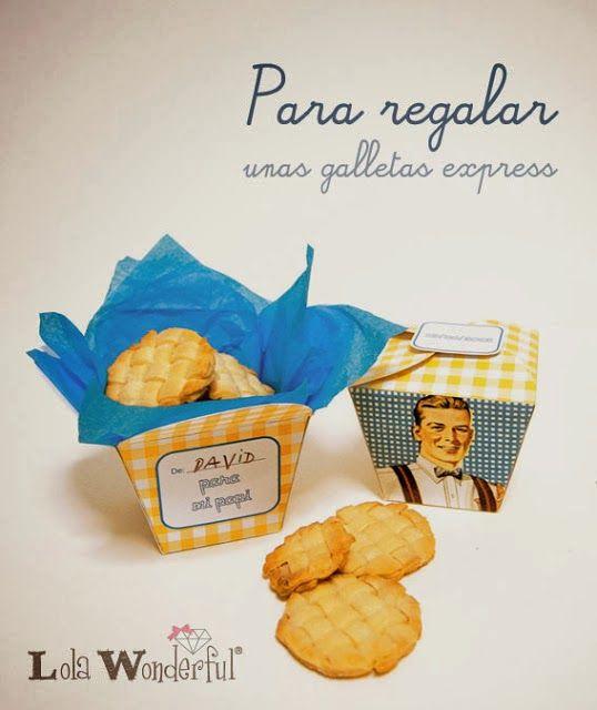 Caja de Galletas Retro para Papá, para Imprimir Gratis.