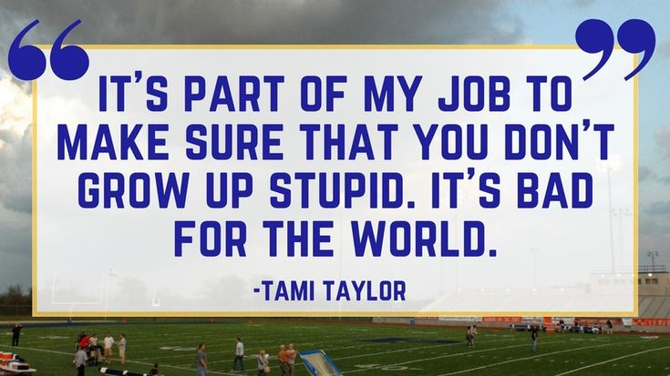 Tami Taylor on Her Job | There is something about football and Friday Night Lights that just gets us inspired We've learned a lot about life from the award-winning TV show based in Dillon, Texas. For a show about high school football games, this small town series somehow came to embody a certain Southern culture. Coach Eric Taylor, his team, and his wife taught us all a few lessons about everything from perseverance to showing love. Whether on the field or at home with his girls, Coach…