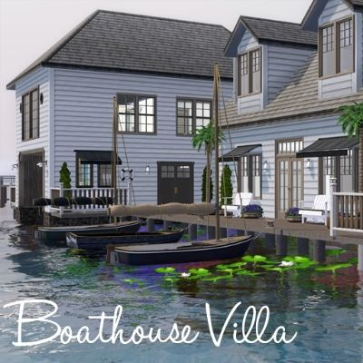 Boathouse Villa von Moonstruck1 - Der Exchange - Community - Die Sims 3