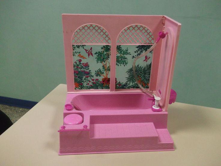 Bagno barbie mattel vintage originale anni 80 ebay for 80s furniture