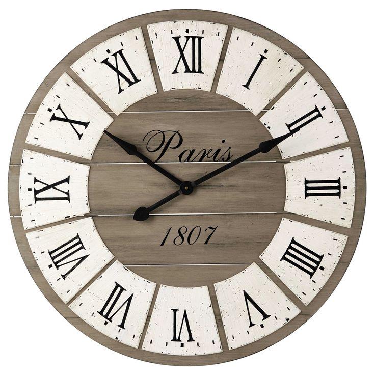 Horloge en bois D 92 cm ST GERMAIN   Maisons du Monde