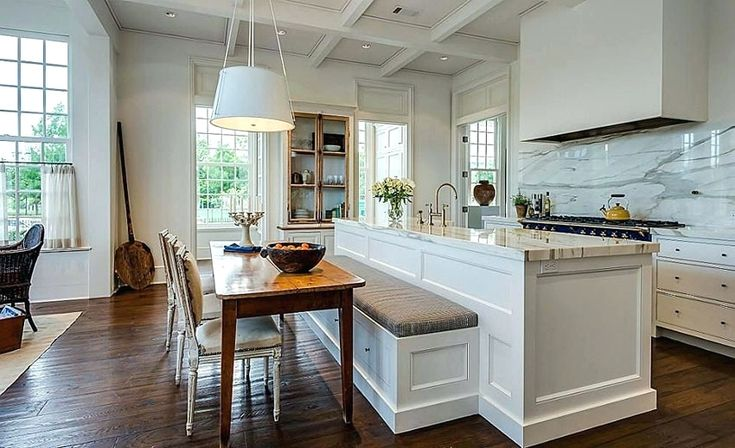 Best 25 kitchen booth seating ideas on pinterest booth for Kitchen island booth