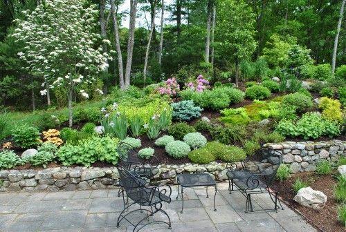 Landscaping A Sunny Hillside : Hillside landscaping garden sloped oasis hill