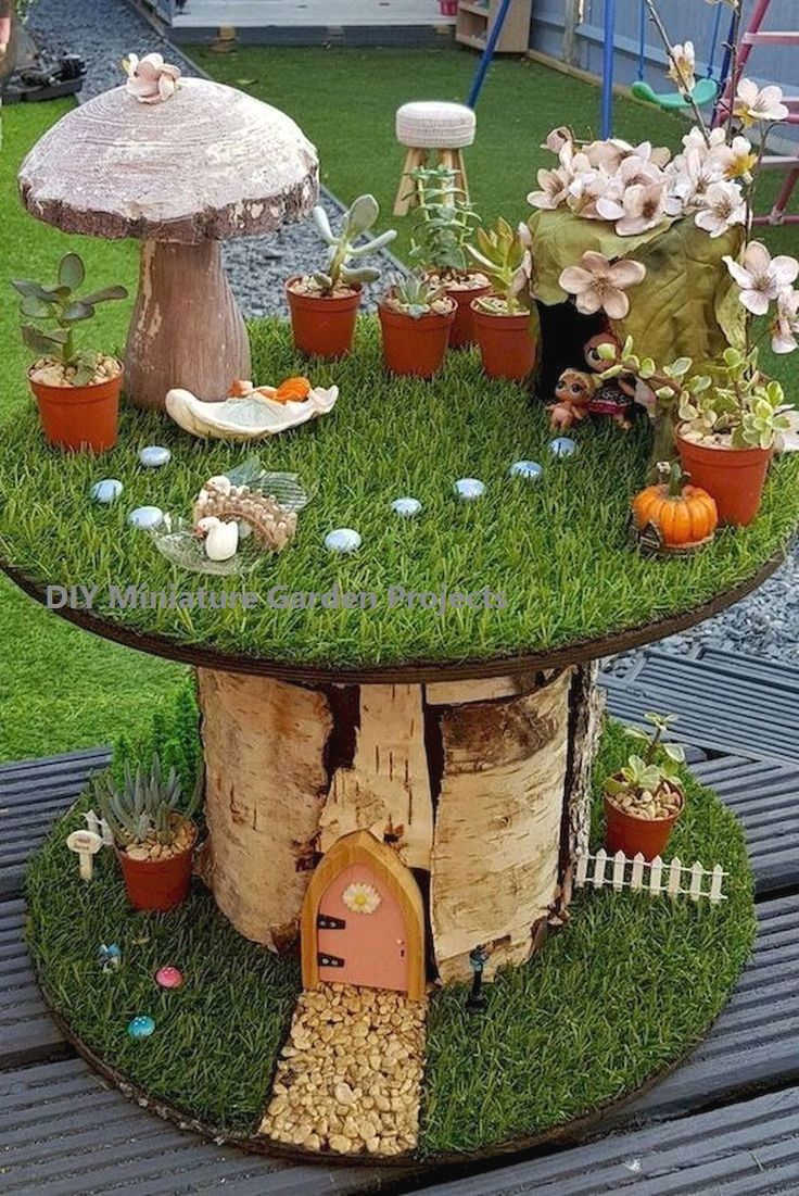 Diy Miniature Garden Hacks Decoration In 2020 Indoor Fairy Gardens Miniature Fairy Gardens Fairy Garden Plants