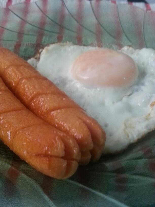 My late breakfast