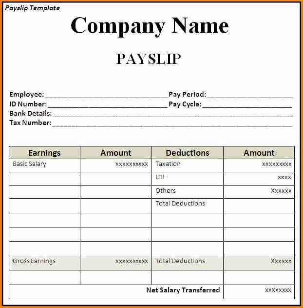 9 Sample Payslip Template Simple Salary Slip Payroll Template Office Templates Project Management Templates