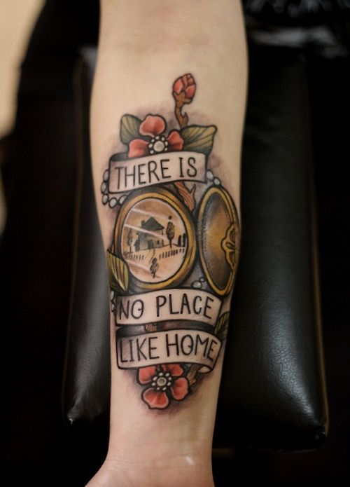 Tatuointeihin kuuluu tyyli josta selviäisi kyllä ja jos siinä lukisi jotai Järvenpää forever Wizard of Oz tattoos