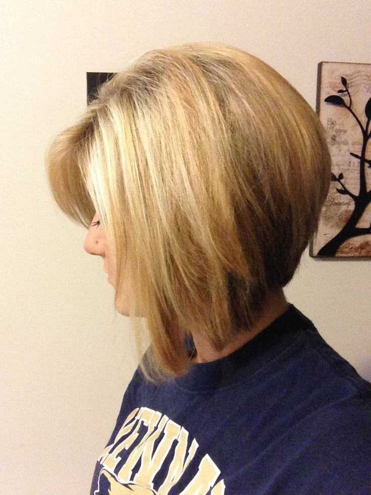 Hair Ideas, Stacked Bobs Hairstyles, Hairstyles Mak, Stacked Bob ...