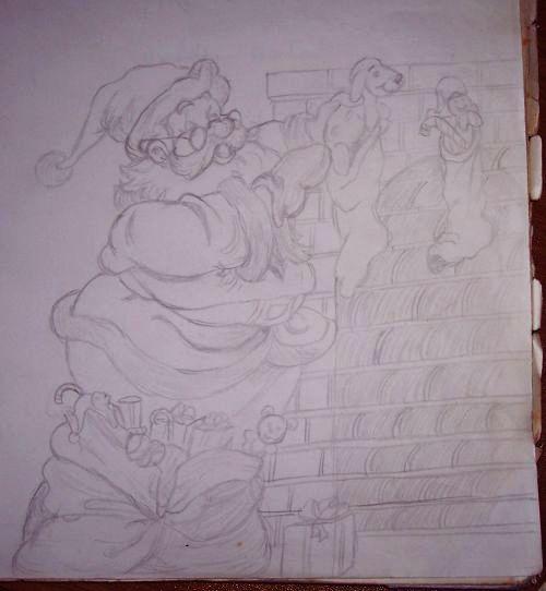 Altro disegno fatto poi per una vetrina di negozio per Natale tantissimi anni fa circa 20
