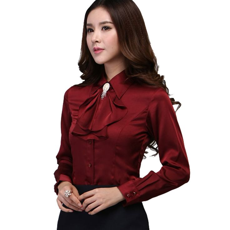 Blouse Shirt 2016 New Women Satin Silk S-xxxl Long Sleeve Romantic Gorgeous Blouses Top Ladies Office Shirts Casual Shirt <3 AliExpress Affiliate's Pin. Clicking on the image will lead you to find similar product