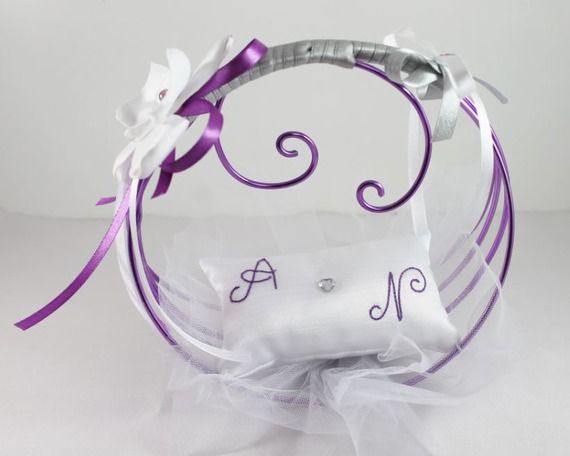 Porte alliances original et personnalis blanc violet for Porte alliance original