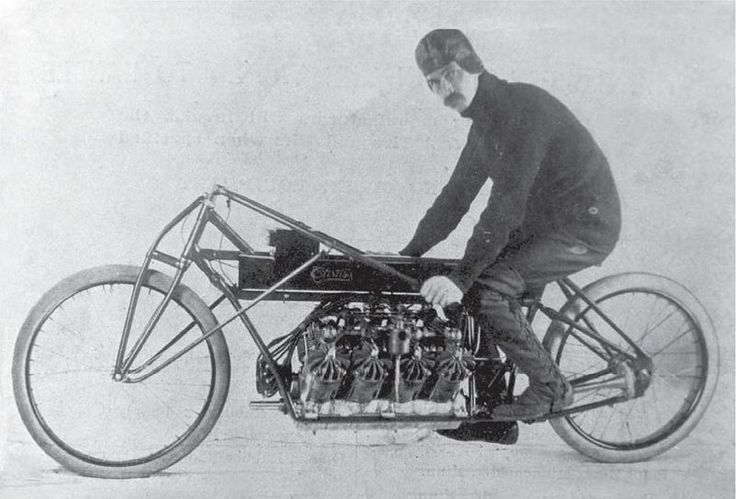 The motorcycle land speed record was first set unofficially by Glenn Curtiss in 1903, at 64 mph with a 1000 cc Curtiss Hercules V-twin. In 1907, he set a new unofficial record that stood for over 20 years, of 136.27 mph with a 4000 cc Curtiss motorcycle.