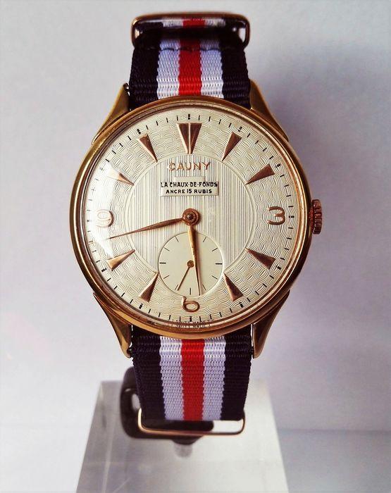 Relógio de homem Cauny Prima 'La Chaux de Fonds' de 1960.