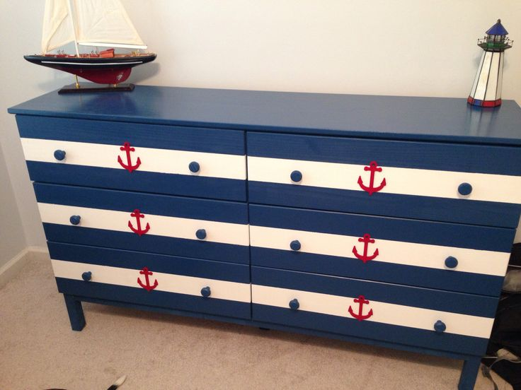 DIY nautical chest of drawers for Holden's nursery