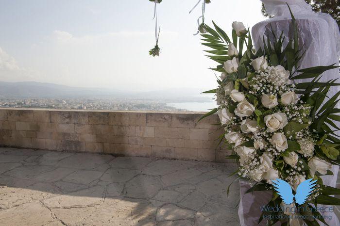 wedding in crete, greece. Flower decoration