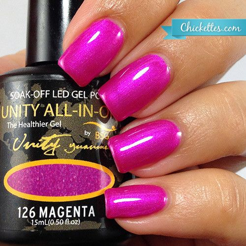 Bio Seaweed UNITY Gel Review - #126 Magenta - Swatch by Chickettes.com