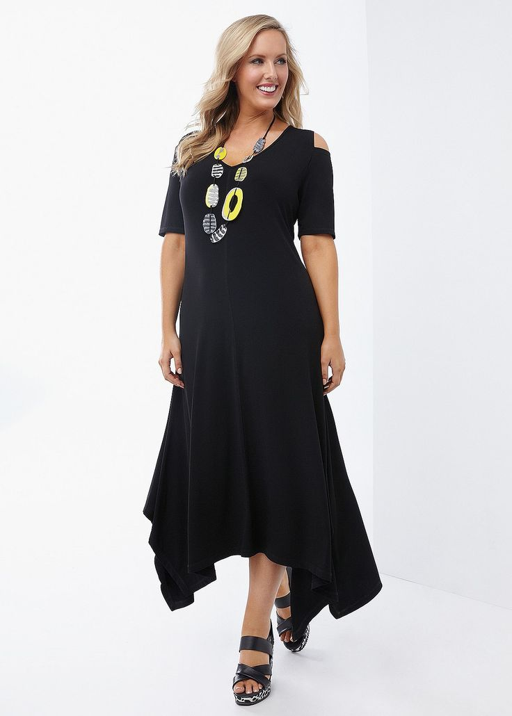Lucy Cold Shoulder Dress #takingshape #plussize #curvy #ts