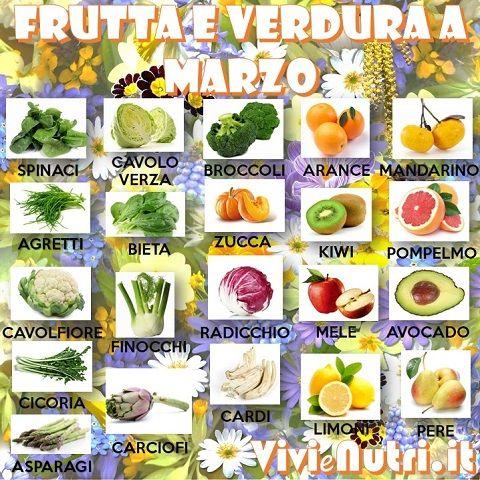 frutta e verdura a marzo