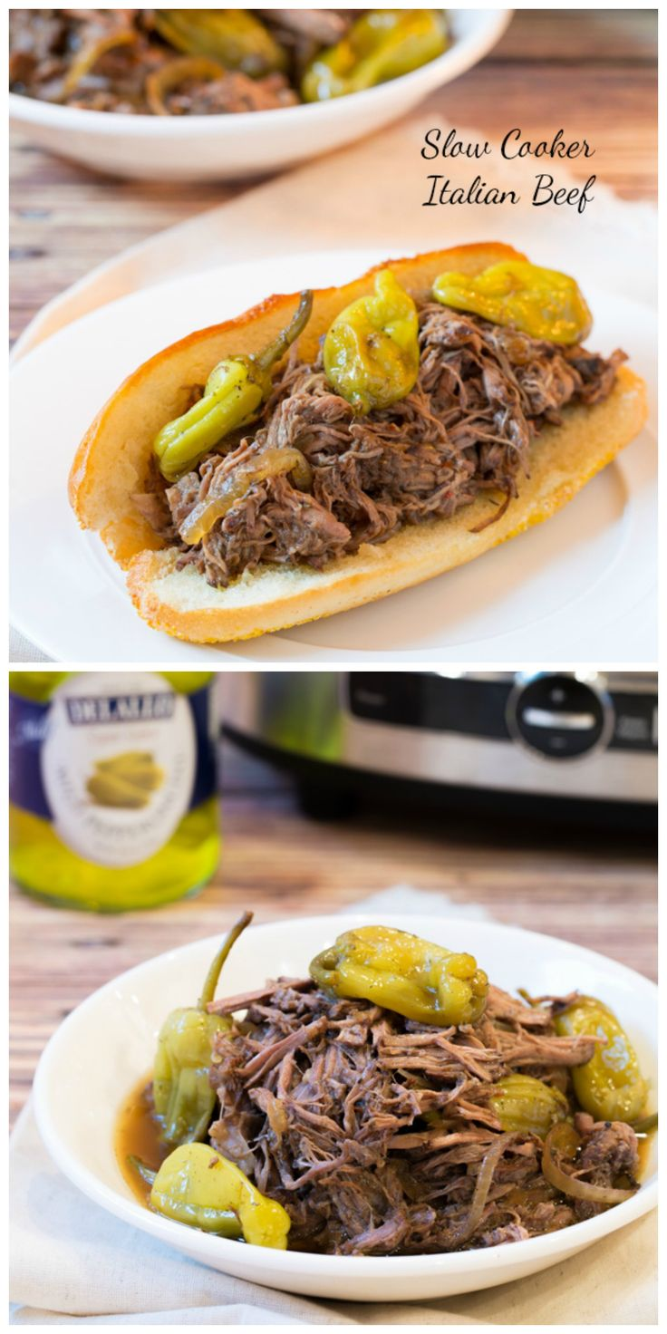 Italian Beef Recipe #slowcooker #crockpot #beef
