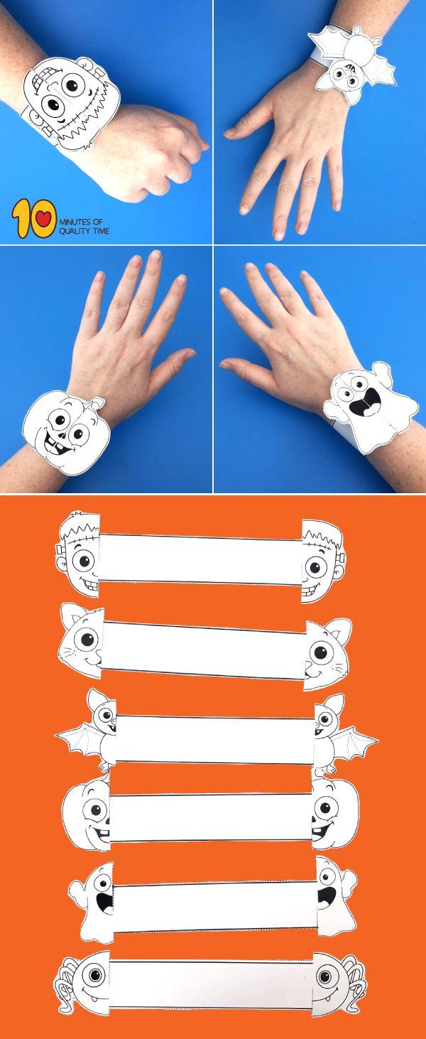 Halloween druckbare Armbänder