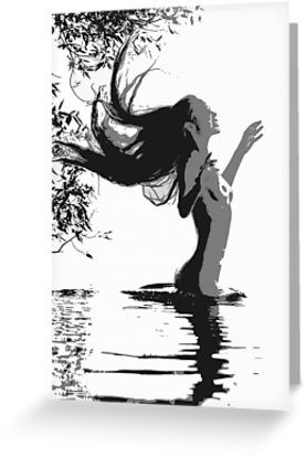 Water Nymph, sexy girl in lake - Also Available as T-Shirts & Hoodies, Men's Apparels, Women's #Apparels, Stickers, iPhone Cases, Samsung Galaxy Cases, Posters, Home Decors, Tote Bags, Pouches, Prints, Cards, Mini Skirts, Scarves, iPad Cases, Laptop Skins, Drawstring Bags, Laptop Sleeves, and Stationeries #art #kinky #naughty #sexy #hot #dirty #redbubble #postcards #collectibles