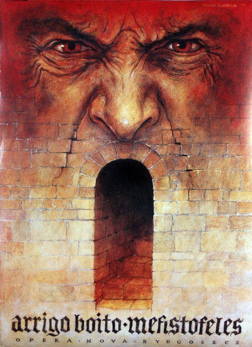 Mefisto Poster for the Opera of Arrigo Boito designer: Wieslaw Grzegorczyk year: 1999