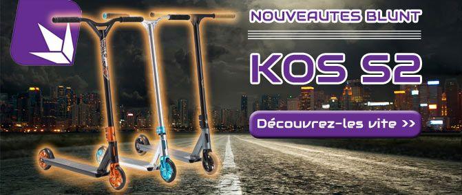 New trottinettes freestyle KOS S2 de Blunt Scooter. Toutes les infos ici : http://www.nomadeshop.com/?f=MV8%3D&q=kos+s2&OK=OK