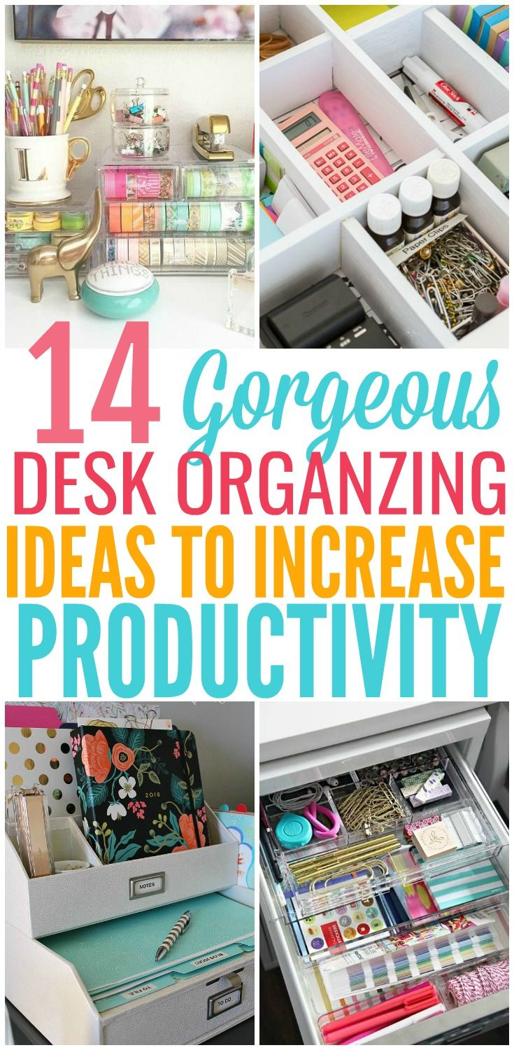 When your desk space is a disaster how do you go about organizing it? Here you will find the best ways to organize your desk to improve productivity.