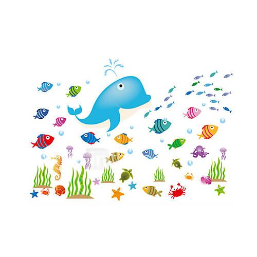 Wall Stickers Wall Decals, Style Cartoon Fish PVC Wall Stickers 2886325 2017 – $9.99