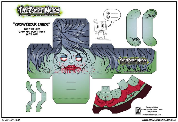 Papercraft zombies have arrived to ruin your lives. I made a bunch of these for fun. I wanted to collect them all and put them up for fans of the comic do with with as they wish. Feel free to dow…