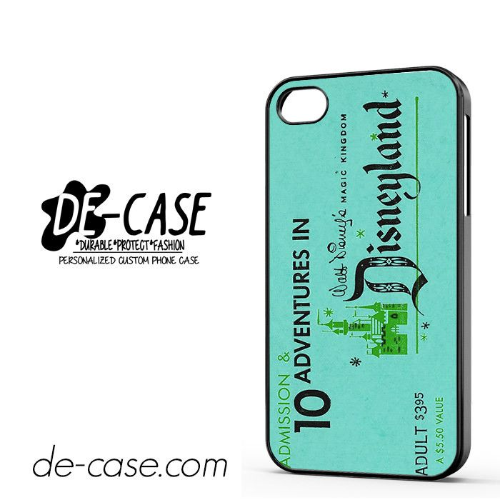 Disneyland Ticket DEAL-3461 Apple Phonecase Cover For Iphone 4 / Iphone 4S