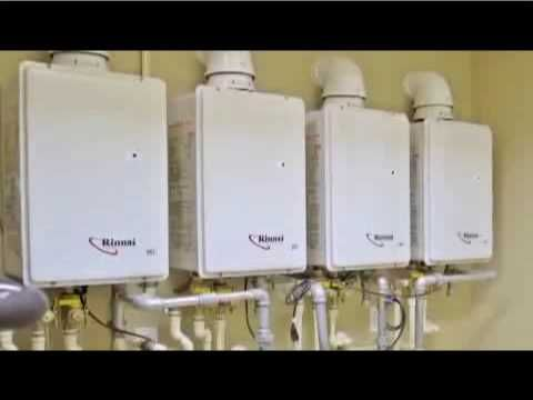 This video goes under the hood of a residential tankless water heater to illustrate how it achieves better performance and energy efficiency than storage wat...