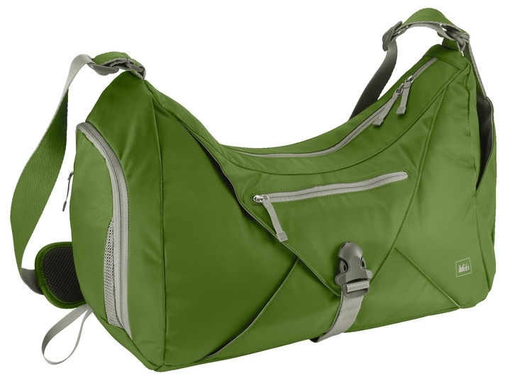 Designed to fit into a locker, this gym bag's got a flap for holding a yoga mat or stashing a jacket.